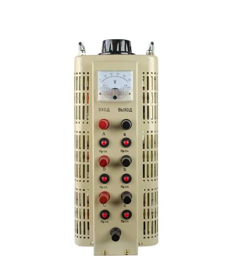 Трехфазный автотрансформатор (ЛАТР) ЭНЕРГИЯ TSGC2-3 (3 кВА)Трансформаторы (ЛАТРы)<br>Тип напряжения:Трехфазный; <br>Мощность (кВА):3; <br>Способ установки:Напольный;<br>Cтрана производства: Россия; Гарантия: 12 месяцев; Расчетный срок службы: 10 лет; Габаритные размеры (мм): 245х315х495; Вес (кг): 19,5; Вес брутто (кг): 21;