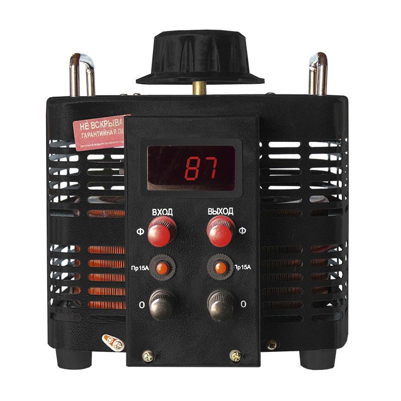 Однофазный автотрансформатор (ЛАТР) ЭНЕРГИЯ Black Series TDGC2-5кВА 15А (0-300V)Трансформаторы (ЛАТРы)<br>Долговечный и простой в эксплуатации лабораторный автотрансформатор мощностью 5 кВА для однофазной сети.<br>Cтрана производства: Китай; Гарантия: 12 месяцев; Расчетный срок службы: 10 лет; Габаритные размеры (мм): 236х291х255; Вес (кг): 16,2;
