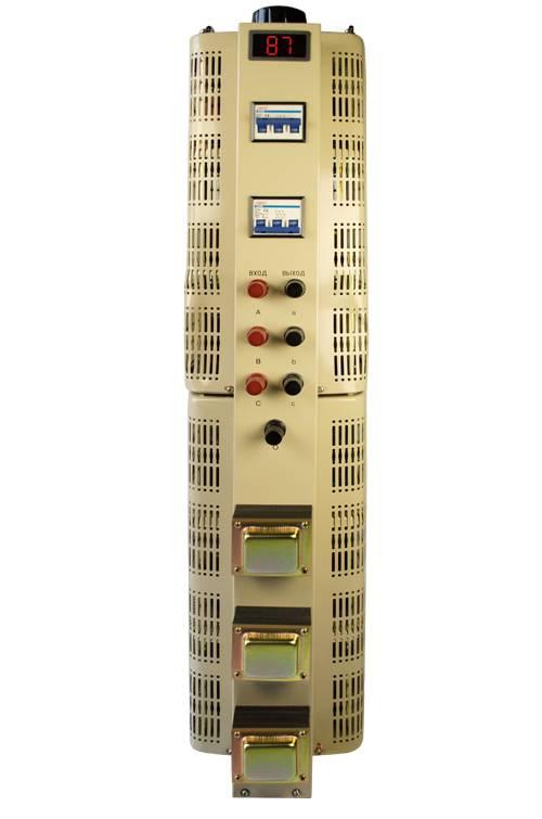 Трехфазный автотрансформатор (ЛАТР) ЭНЕРГИЯ TSGC2-30 (30 кВА)Трансформаторы (ЛАТРы)<br>Тип напряжения:Трехфазный; <br>Мощность (кВА):30;<br>Гарантия: 12 месяцев; Габаритные размеры (мм): 730х320х350; Вес (кг): 80;