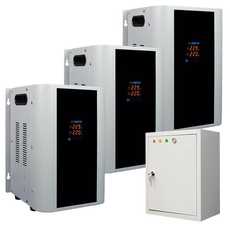 Трехфазный стабилизатор напряжения Энергия Hybrid 15000 (U)Стабилизаторы<br>Тип напряжения:Трехфазный; <br>Принцип стабилизации:Гибрид, Сервоприводный; <br>Мощность (кВА):15; <br>Способ установки:Напольный, Настенный;<br>Cтрана производства: Россия; Гарантия: 12 месяцев; Расчетный срок службы: 10 лет; Габаритные размеры (мм): 280х220х1110; Вес (кг): 56;
